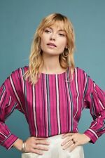 Anthropologie Gardenia Boat Neck Top Top NWT new size M