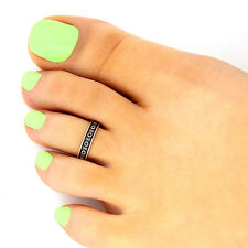 design adjustable toe ring (T-131) Sterling silver toe ring dots