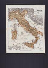 Landkarte map 1867: Königreich Italien. Italy Italia