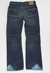 RARE~NWT ABERCROMBIE Guys Vintage Low Rise Slim Straight Remsen Painted Jeans 16