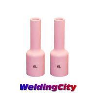 WeldingCity® 2-pk Long Gas Lens Cup 54N16L #6 TIG Welding Torch 17/18/26   USA