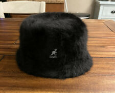 Kangol Black Faux Fur Bermuda Bucket Hat Women's Large