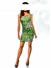 A-020# NEU! Abendkleid / Partykleid mit Strass, grün-schwarz, Gr. 40, Heine