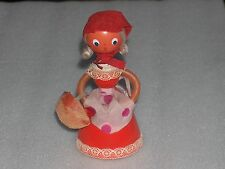 VINTAGE CUTE  RED RIDING HOOD? CHARACTER WOODEN DOLL