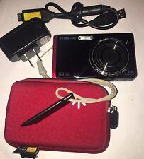 SAMSUNG Black & Red TL220 12.2 MP  Digital Camera With Case