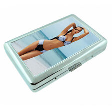 French Pin Up Girls D3 Silver Metal Cigarette Case RFID Protection Wallet