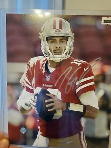 Jimmy Garoppolo San Francisco 49ers Autographed 8x10 Photo w/ coa