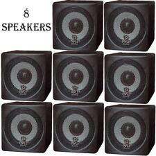 LOT OF (8) NEW Pyle PCB3BK 100W 3'' Mini Cube Bookshelf Speakers (BLACK)