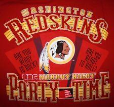 90s WASHINGTON REDSKINS PARTY TIME NFL T-Shirt Nutmeg Mills Mens XL VINTAGE