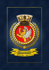 HMS CAMPANIA SHIPS BADGE/CREST - HUNDREDS OF HM SHIPS IN STOCK