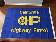 Heavy Stitched Canvas 4x6 California Highway Patrol CHP  Flag Man Cave Police