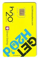 H2O Wireless AT&T Compatible Micro SIM Card WE SHIP WORLDWIDE