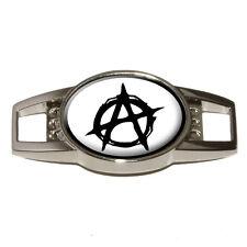 Anarchy Symbol Black - Shoe Sneaker Shoelace Charm Decoration