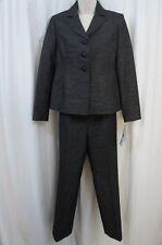 "Suit Studio Pequeño pantalones traje talla 2p Negro Plata ""Jardín Grove"""