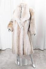 OSCAR DE LA RENTA Womens VINTAGE Genuine Coyote Fur Full-Length Long Coat XL