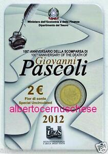 folder 2 euro 2012 ITALIA 100 morte Giovanni PASCOLI Italie Italy Italie Италия