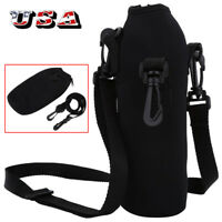 1000ML Water Bottle Carrier Insulated Cover Pouch Bag Holder + Shoulder Strap US