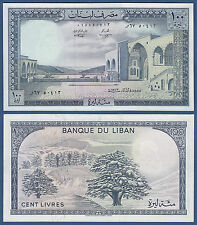 LIBANON / LEBANON  100 Livres 1973 !!!  AU-UNC  P.66 b