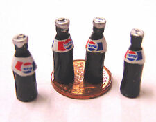 1:12 Scale 4 Small Pepsi Bottles Tumdee Dolls House Pub Bar Cafe Shop Drink A