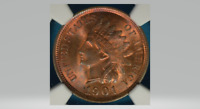 1901 Indian Head Cent NGC MS63RB~~ Mostly Red, Sharp Coin !!
