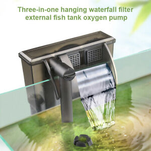 Mini External Hanging Filter Water Pump Waterfall For Fish Tank Aquarium
