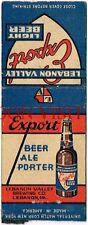 Lebanon Valley Export Beer Pennsylvania Matchcover Tavern Trove