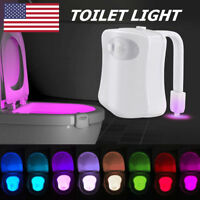 Toilet Bowl New LED Automatic Night Light Body Sensing 8 Colors Changing Motion