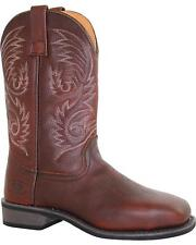 Ad Tec Men's Western Pull On Work Boot, Size 10.5 9555-W