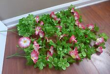 2 New Morning Glory Bush Vines Hanging Artificial Flowers Plants Home Decoration
