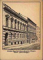 JOHANN STRAUS Wien Sterbehaus Kunst-AK um 1940 Verlag Karl Kühne ungelaufen