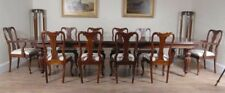 Victorian Dining Table and 10 Queen Anne Chairs Dining Set Suite