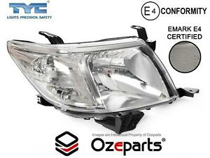 RH Right Hand Head Light Lamp Chrome For Toyota Hilux 2011~2015 2WD 4WD Ute