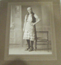 Old Original Cabinet Portrait Photograph of Woman - by Horace Dudley -1920's