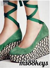 NIB Free People $138 FP CHARADE ESPADRILLE WEDGE Shoes Sandals Platform SIZE 39
