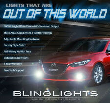 Bumper Fog Driving Lamps Kit + Daytime Running Lights for 2014 2015 2016 Mazda3