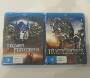 Transformers 1 & 2 blu-ray bundle - Revenge Of The Fallen TRACKED POSTAGE