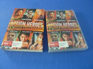 Action Heroes 6 Movie Collection DVD Man of Fire / Die Hard Commando   R4
