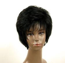 perruque afro femme 100% cheveux naturel courte noir ref LAET 06/1b