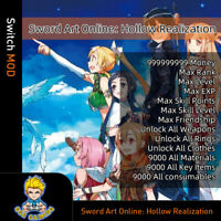 Sword Art Online: Hollow Realization(Swicth Mod)-Max Money/Rank/Stats/SP/Weapons
