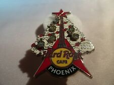 Hard Rock Cafe pin Phoenix 2006 happy holidays Christmas white tree red Guitar