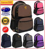 Bag Backpack 610, Schoolbag with Laptop holder. Purple Navy Black Brown & more!!