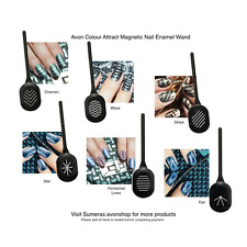 AVON Colour Attract Magnetic Nail Enamel Polish & Magnetic Wands New & Free P&P