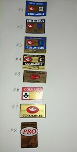 Decals stickers tubes Columbus by Gilco MS Design , 19 options on your choice