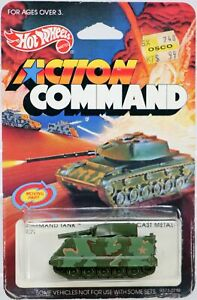Hot Wheels Command Tank Action Command Series #9371 New NRFP 1984 Olive 1:64