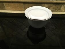 Tupperware 5298 Sheer Silver Bowl 2 1/4 Cups With White Seal