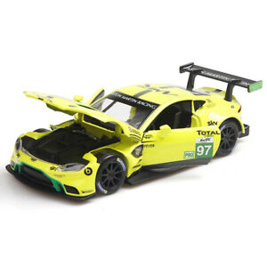 1/32 Aston Martin Vantage GTE #97 Racing Car Model Car Diecast Vehicle Yellow