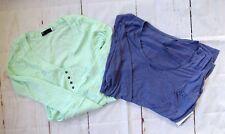 $65 Fox Racing Women's Long Sleeve Shirts (two pieces) - Deep Cobalt/Mint sz L