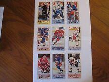 Fleer PowerPlay Hockey Card Lot (9) 1993/94 Fetisov, Potvin, Turcotte