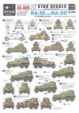 Star Decals 1/35 BA-10 & BA-20 ARMORED CARS IN FOREIGN SERVICE