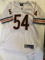 Urlacher #54 Chicago Bears NFL On field Stitched White Jersey Youth Large 14-16